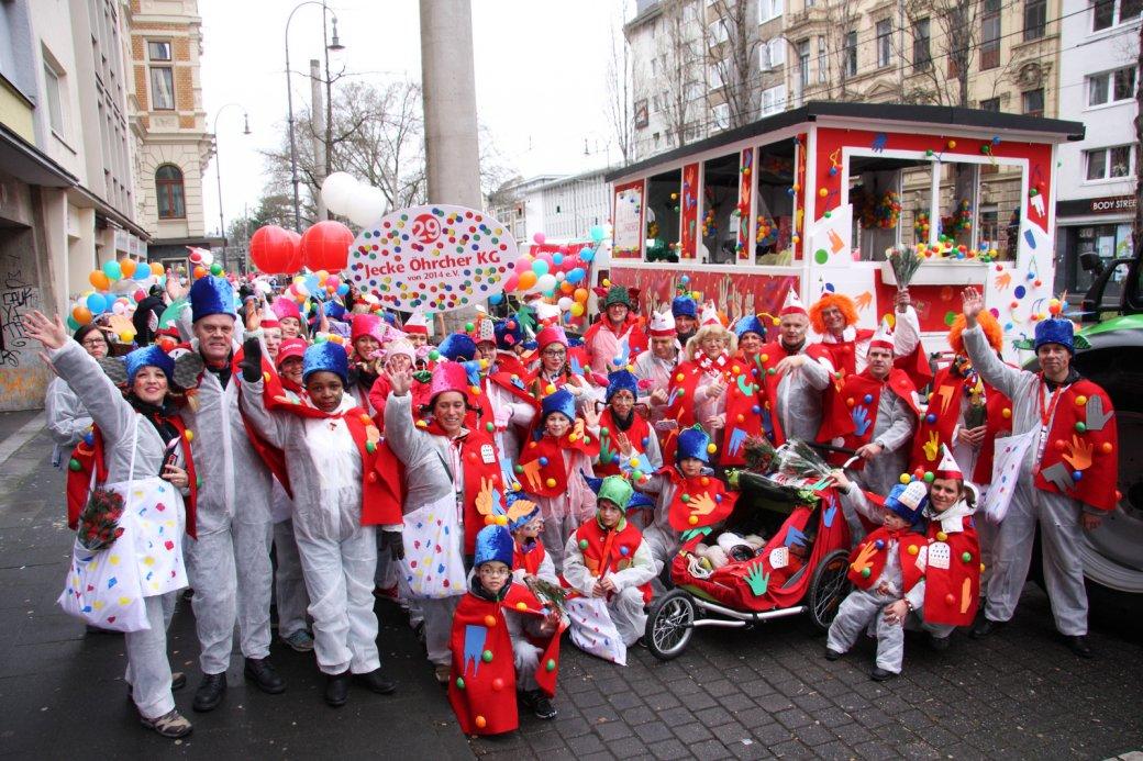 Fröhliche Karnevalsgruppe