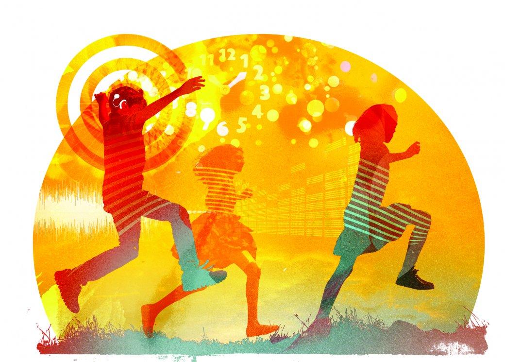 Illustration children playing