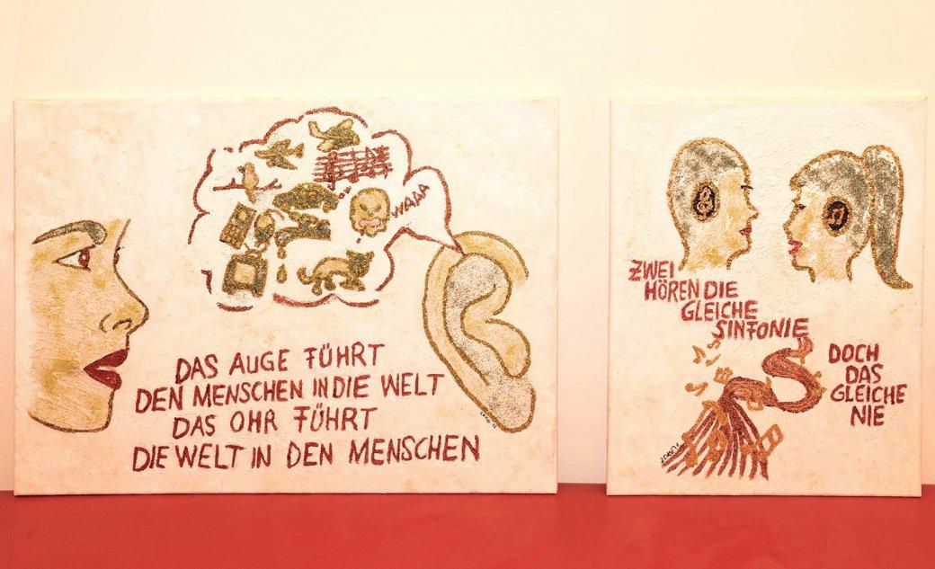 Zeichnungen über Hörverlust von Elisabeth Krenner