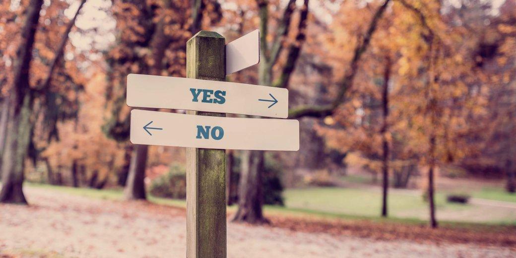 Entscheidung Ja oder Nein