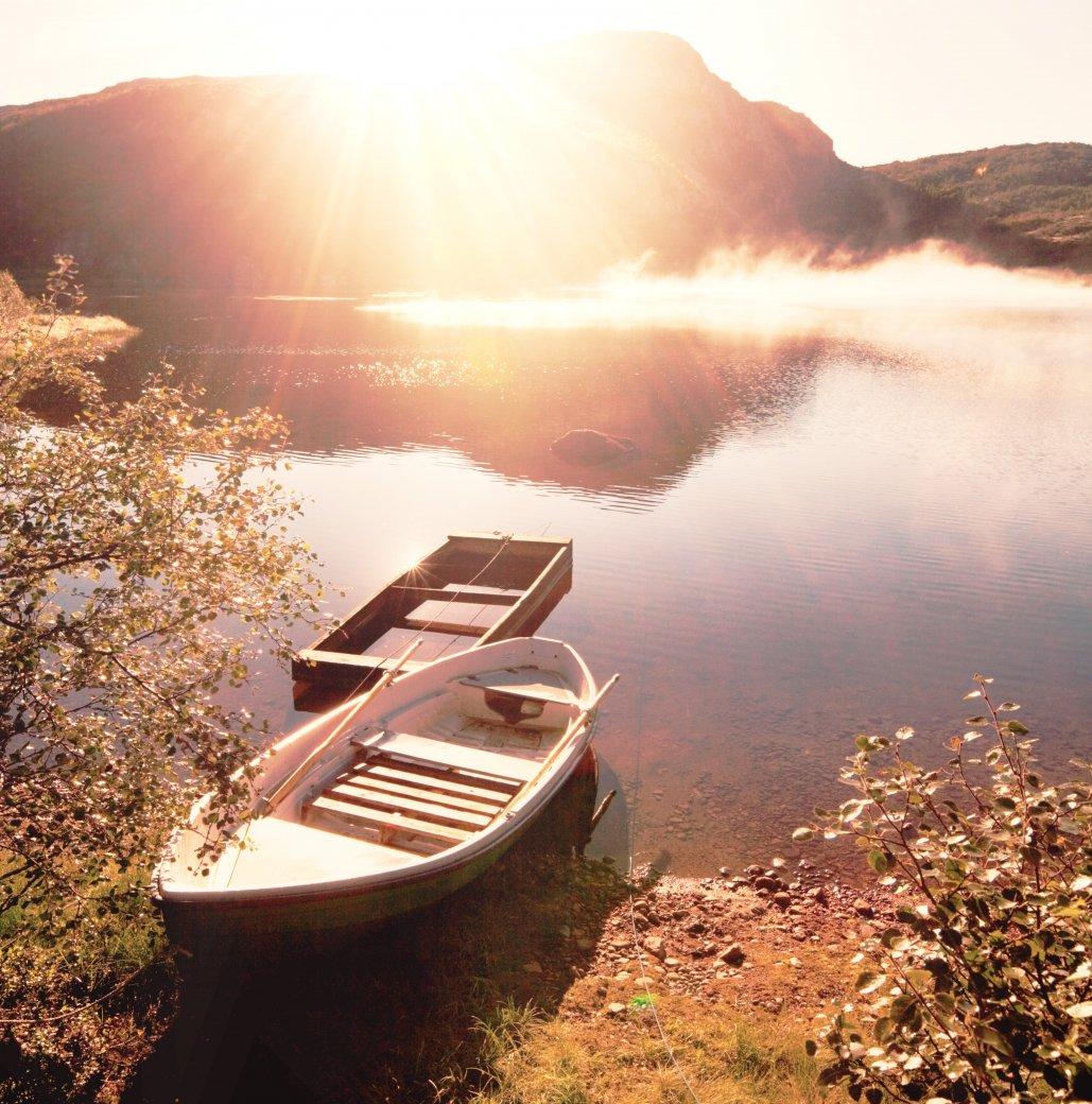 Ruderboot im See